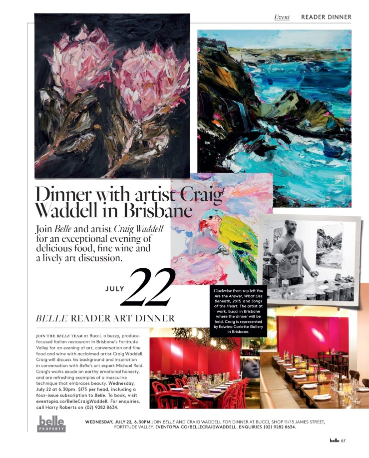 Belle Reader Dinner - Brisbane July 22